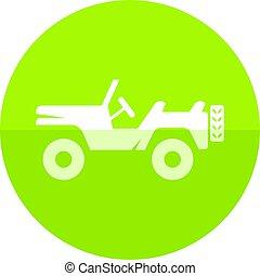 Circle icon - Military vehicle