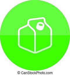 Circle icon - Milk packaging
