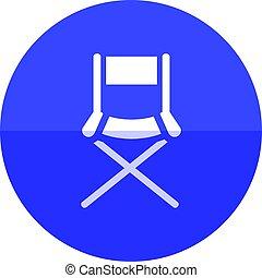 Circle icon - Movie director chair