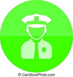 Circle icon - Police avatar