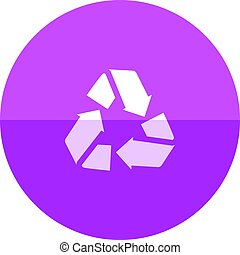 Circle icon - Recycle symbol