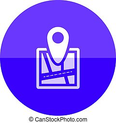 Circle icon - Road map