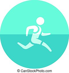 Circle icon - Running athlete