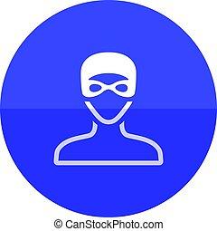 Circle icon - Swimming athlete