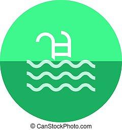 Circle icon - Swimming pool