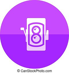 Circle icon - TLR camera - Twin lens reflex camera icon in ...