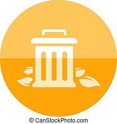 Circle icon - Trash bin