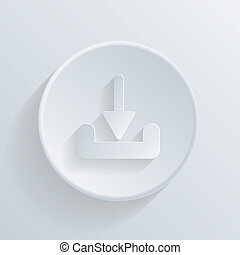 circle icon with a shadow. download