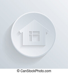 circle icon with a shadow, home