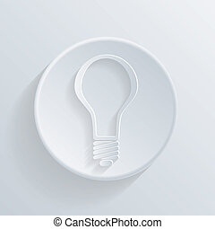 circle icon with a shadow. lightbulb