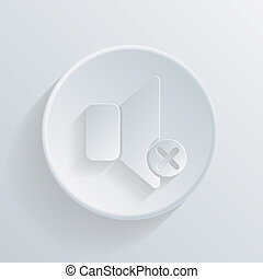 circle icon with a shadow. loudspeaker
