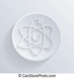 circle icon with a shadow. molecule