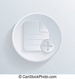 circle icon with a shadow. page of the document