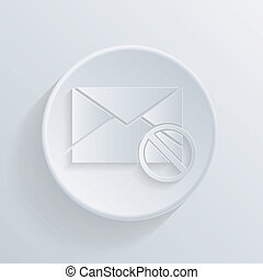 circle icon with a shadow, post envelope