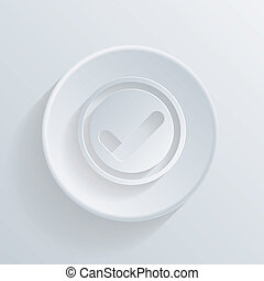 circle icon with a shadow. the add symbol
