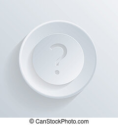 circle icon with a shadow. the question mark