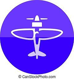 Circle icon - World War - World War icon in flat color...