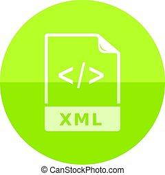 Circle icon - XML file format - XML file format icon in flat...