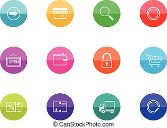 Circle Icons - More Ecommerce Icons