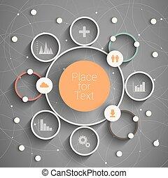 Circle info - Modern business circle options banner. Eps10...