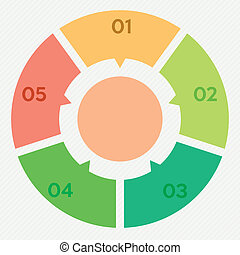 circle infographic 5 steps