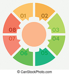 circle infographic 8 steps