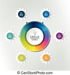 Circle infographic chart, diagram, scheme.