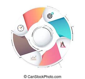 Circle infographic diagram for presentation. vector illustration.