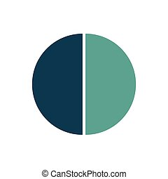 Circle infographic template. Vector layout with 2 options. Can be used for cycle diagram, round chart, graph, annual report, presentation, web design, step by step infographics.