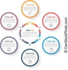 Circle Infographic Template with Six Elements