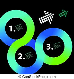 Circle infographic vector template