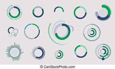 Circle infographics - graphs, charts and diagrams