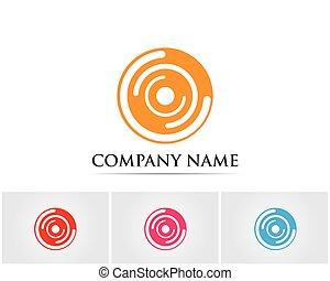 Circle internet logo vector template