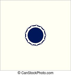 Circle label icon isolated sign symbol.
