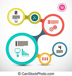 Circle Labels. Vector Web Infographic Layout.