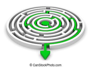 Circle labyrinth