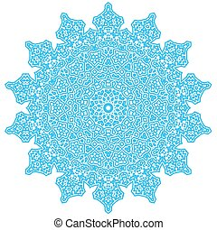 Circle Lace Ornament, Round Doily Pattern