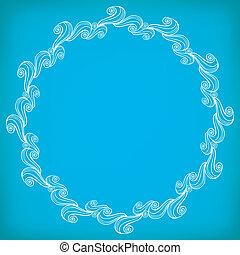 Circle Lacy Wavy Pattern