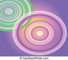 Circle Light purple background