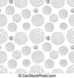 Circle lines pattern vector illustration