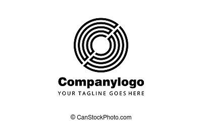 circle logo flat design
