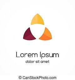 Circle logo template. Abstract sign, symbol.
