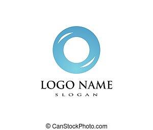 circle logo template vector design