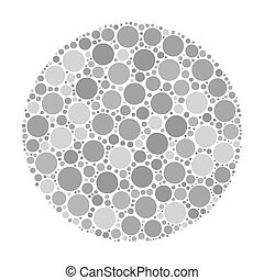 Circle made of dots