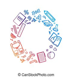 Circle Made of Icons Vector Illustration