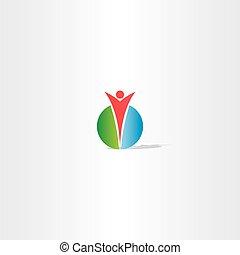 circle man logo design vector
