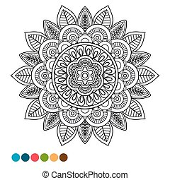 Circle mandala ornament antistress coloring