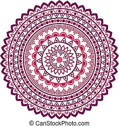Circle mandala pattern.