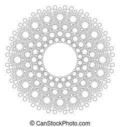 Circle Mandala Vector on white background