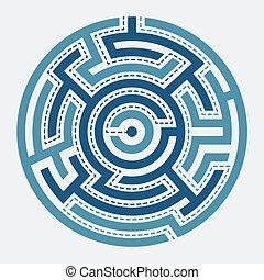 Circle maze vector illustration
